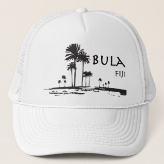 Bula Fiji Palm Tree Graphic Trucker Hat