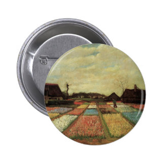 Bulb Fields by Vincent van Gogh Pinback Buttons