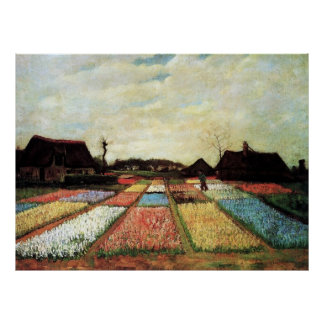 Bulb Fields by Vincent van Gogh. Poster