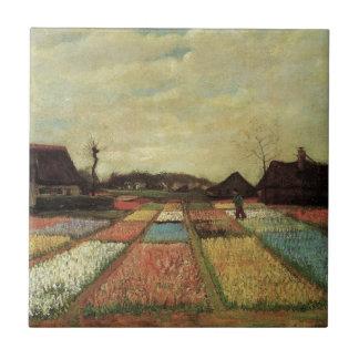 Bulb Fields by Vincent van Gogh. Tile
