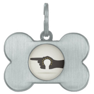 Bulb in a hand pet tag
