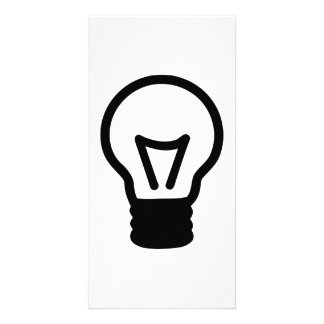 Bulb light icon photo greeting card