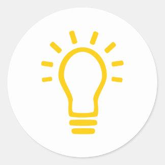 Bulb Round Sticker