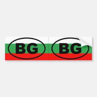 Bulgaria - BG - European oval Bumper Sticker