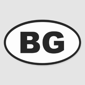 Bulgaria - BG - European Oval Sticker
