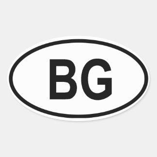 "Bulgaria ""BG"" Oval Sticker"