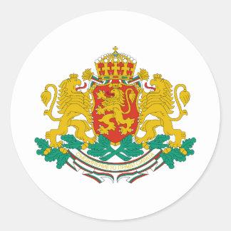 Bulgaria coat of arms classic round sticker