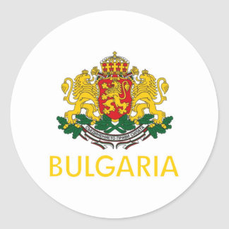 Bulgaria Coat of Arms Round Sticker