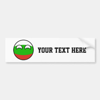 Bulgaria Countryball Bumper Sticker