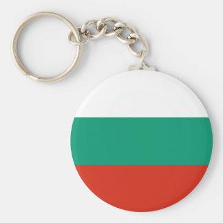 Bulgaria Flag Basic Round Button Key Ring