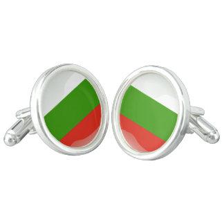 Bulgaria flag cuff links