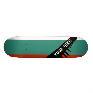 Bulgaria Flag Custom Skate Board