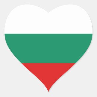 Bulgaria Flag Heart Sticker
