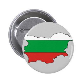 Bulgaria flag map 6 cm round badge