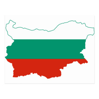Bulgaria Flag map BG Postcard