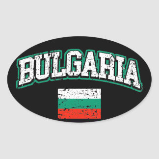 Bulgaria Flag Oval Sticker