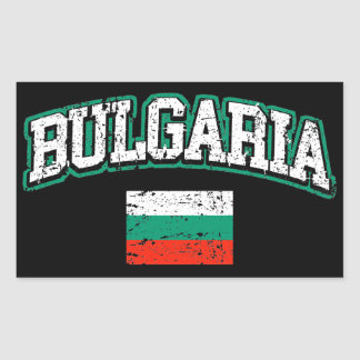Bulgaria Flag Rectangular Sticker