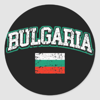 Bulgaria Flag Round Sticker