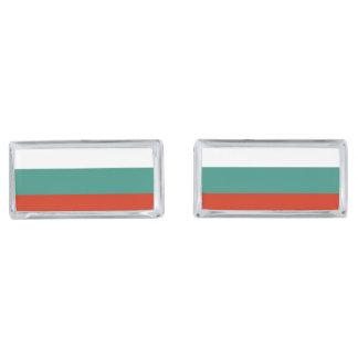 Bulgaria Flag Silver Finish Cufflinks