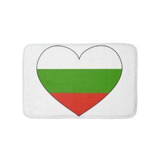 Bulgaria Flag Simple Bath Mats