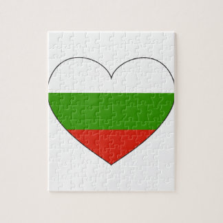 Bulgaria Flag Simple Jigsaw Puzzle