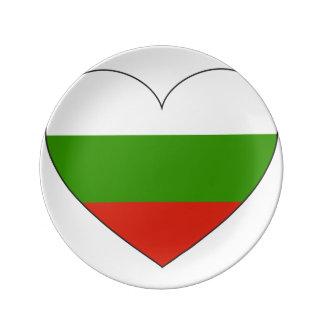 Bulgaria Flag Simple Plate