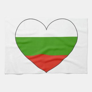 Bulgaria Flag Simple Tea Towel