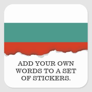 Bulgaria Flag Square Sticker