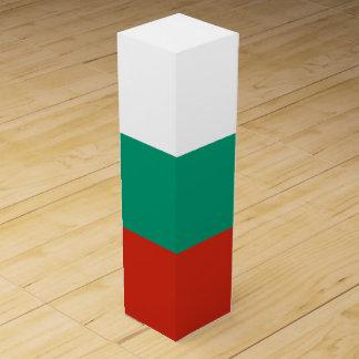 Bulgaria Flag Wine Bottle Box