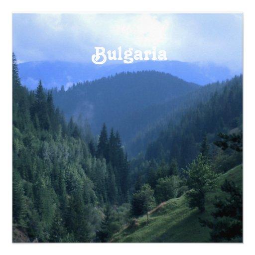 Bulgaria Landscape Invitation