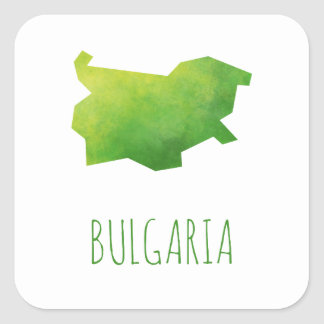 Bulgaria Map Square Sticker