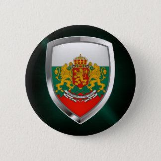 Bulgaria Metallic Emblem 6 Cm Round Badge