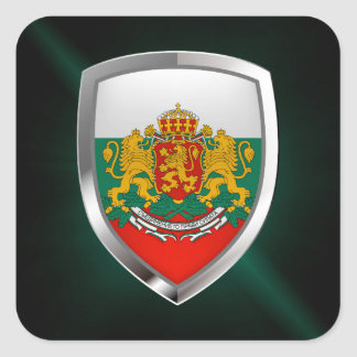 Bulgaria Metallic Emblem Square Sticker