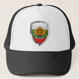 Bulgaria Metallic Emblem Trucker Hat