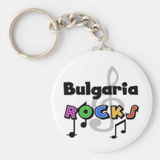 Bulgaria Rocks Basic Round Button Key Ring