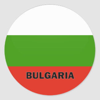 Bulgaria Roundel quality Flag Classic Round Sticker