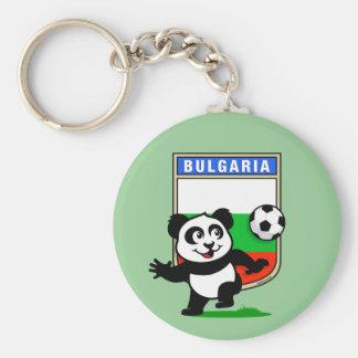 Bulgaria Soccer Panda Basic Round Button Key Ring