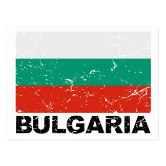 Bulgaria Vintage Flag Postcard
