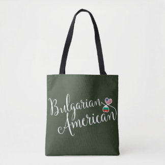 Bulgarian American Entwined Hearts Grocery Bag