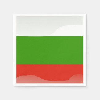 bulgarian flag disposable napkin
