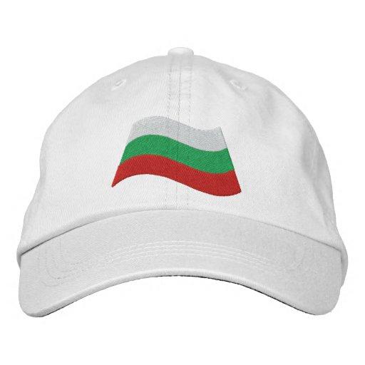 Bulgarian Flag Embroidered Baseball Caps