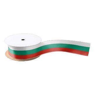 Bulgarian flag ribbon satin ribbon