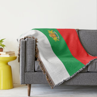 Bulgarian flag throw blanket