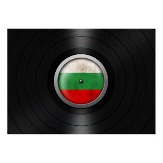 Bulgarian Flag Vinyl Record Album Graphic Business Card Template