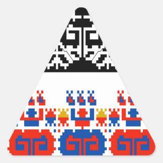 Bulgarian folk art pattern triangle sticker