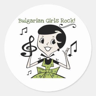 Bulgarian Girls Rock Classic Round Sticker