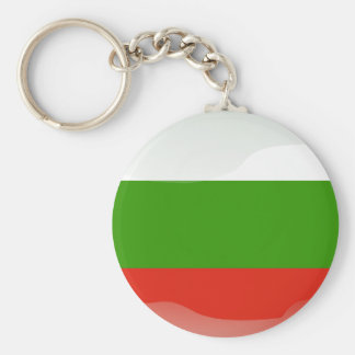 Bulgarian glossy flag basic round button key ring