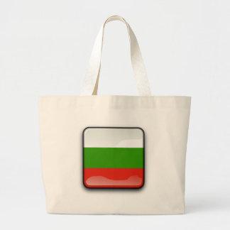 Bulgarian glossy flag large tote bag