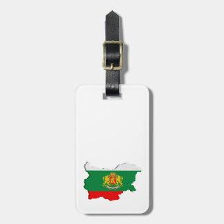 Bulgarian map luggage tag