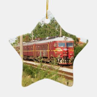 Bulgarian Passenger Train Ceramic Star Decoration